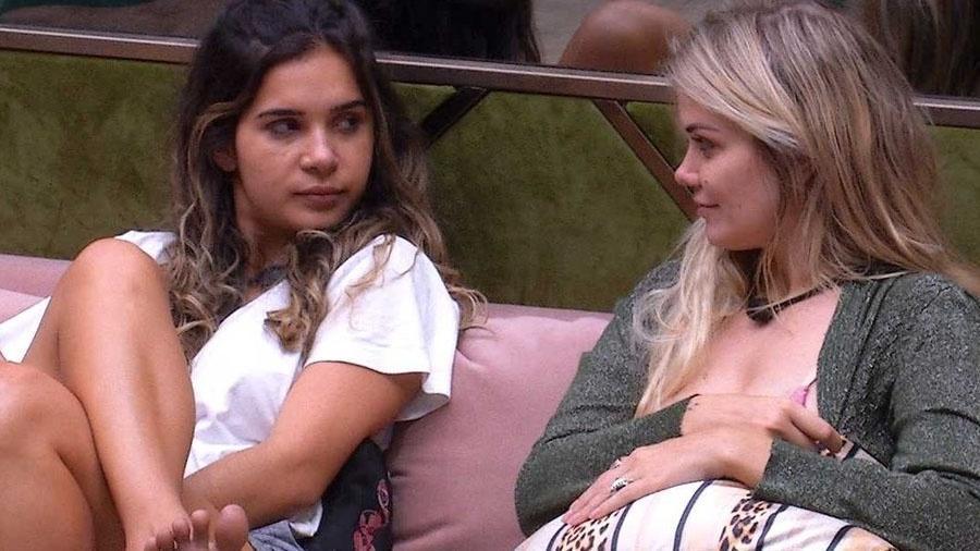 Marcela falou para Gizelly que quis beijar Daniel durante festa (Foto: Reprodução)