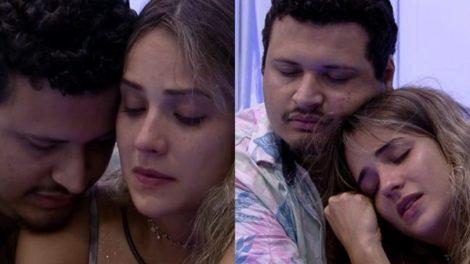 BBB20: Gabi e Victor Hugo choram por Guilherme (Foto: reprodução/Globo)