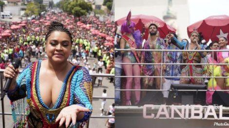 Bloco da Preta 2020, foi cenário de pedido de casamento nas ruas do Rio de Janeiro (Foto: Reprodução/Ricardo Borges/UOL)