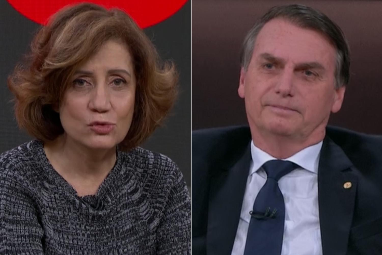 Miriam Leitão, da Globo, milita contra presidente Bolsonaro - Foto: Montagem