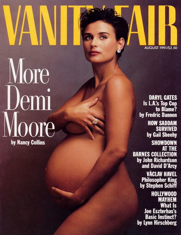 Demi Moore na capa da revista Vanity Fair, de 1991 (Foto: Reprodução)