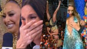 Carnaval 2020 em poucas horas tem Ivete Sangalo chorando, Claudia Leitte presa em cabos, Dudu Camargo colocando a mão nos seis de Simony ao vivo e mais (Foto montagem: TV Foco)