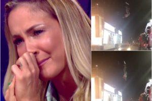 Claudia Leitte fica presa por um fio e número musical é cancelado. Foto: Reprodução