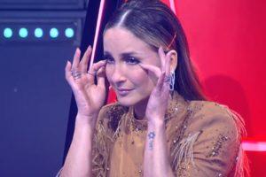Claudia Leitte durante o programa The Voice Kids desse domingo, 23 de fevereiro (Foto: Reprodução)