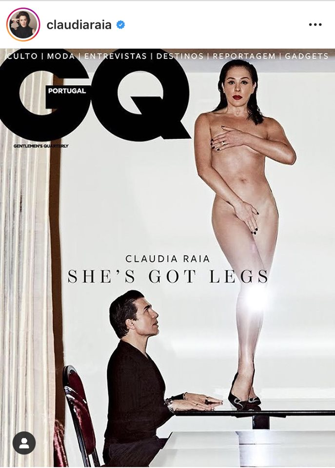Claudia Raia e seu esposo, Jarbas Homem de Mello estampam a capa da revista portuguesa GQ (Foto: Instagram)