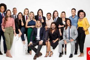 Os apresentadores da CNN Brasil com seus rostos trocados (foto: reprodução/Instagram)