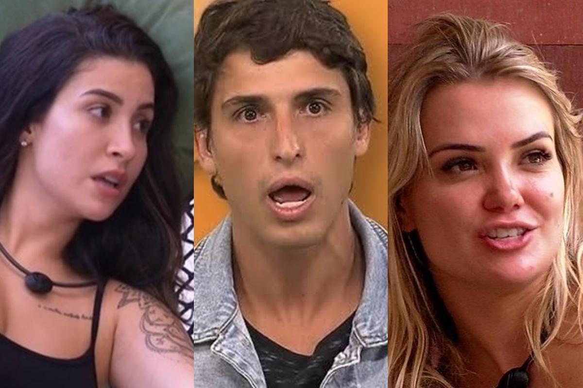 Bianca, Marcela e Felipe são participantes do BBB20 (Foto: reprodução)