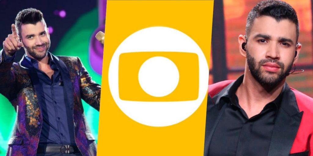 """Gusttavo Lima deu o que falar ao dizer """"Não"""" para a Globo e virar comentários (Foto montagem: TV Foco)"""