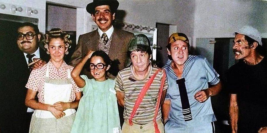 O elenco principal do seriado Chaves (Foto: reprodução)