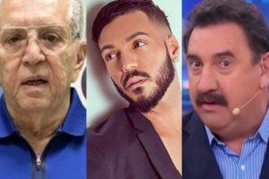 Carlos Alberto de Nóbrega, Belo e Ratinho já tiveram seus bens penhorados para pagar dívida (Foto: reprodução)