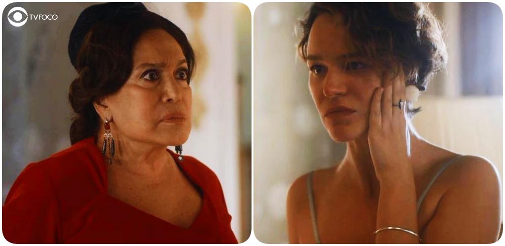 Emília e Adelaide terão momento tenso na novela de época Éramos Seis