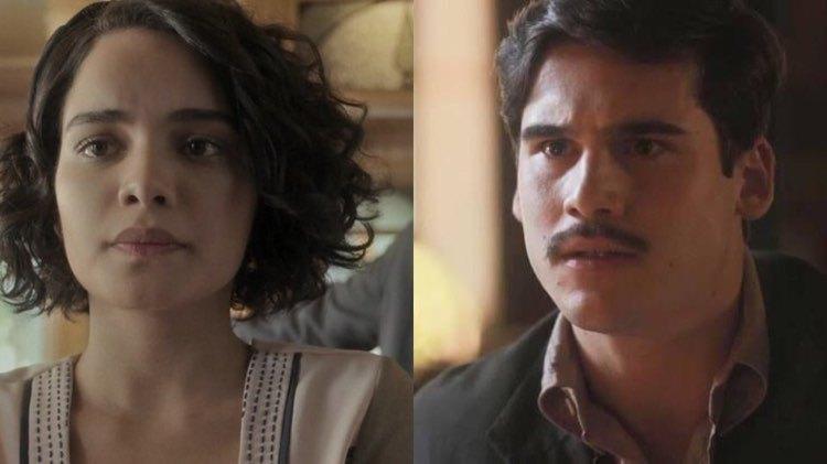 Inês fica grávida de Alfredo e Lúcio é o primeiro a saber (Montagem: TV Foco)