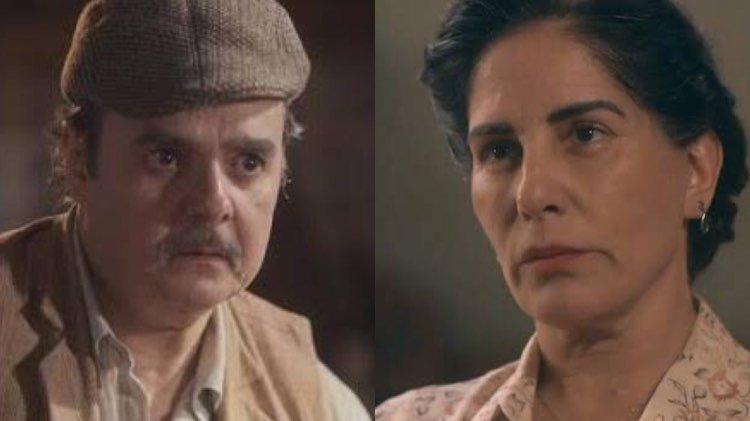 Em Éramos Seis, Lola ficará furiosa com Afonso (Montagem: TV Foco)