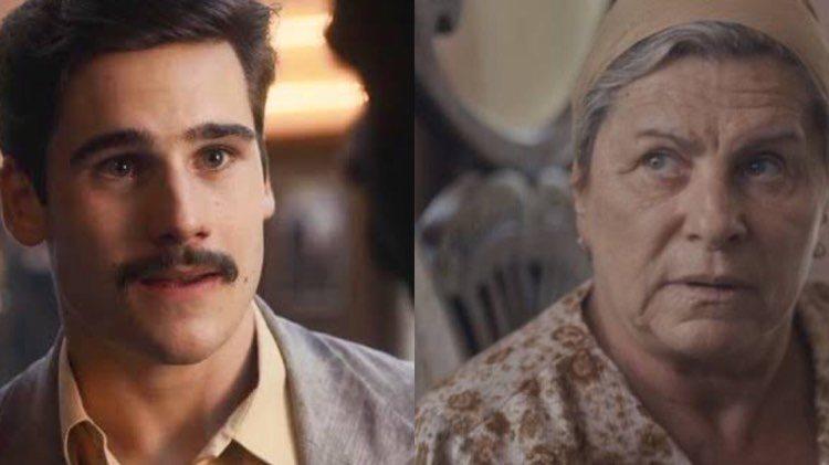 Éramos Seis Alfredo vai à Guerra e recebe bença da avó (Montagem: TV Foco)