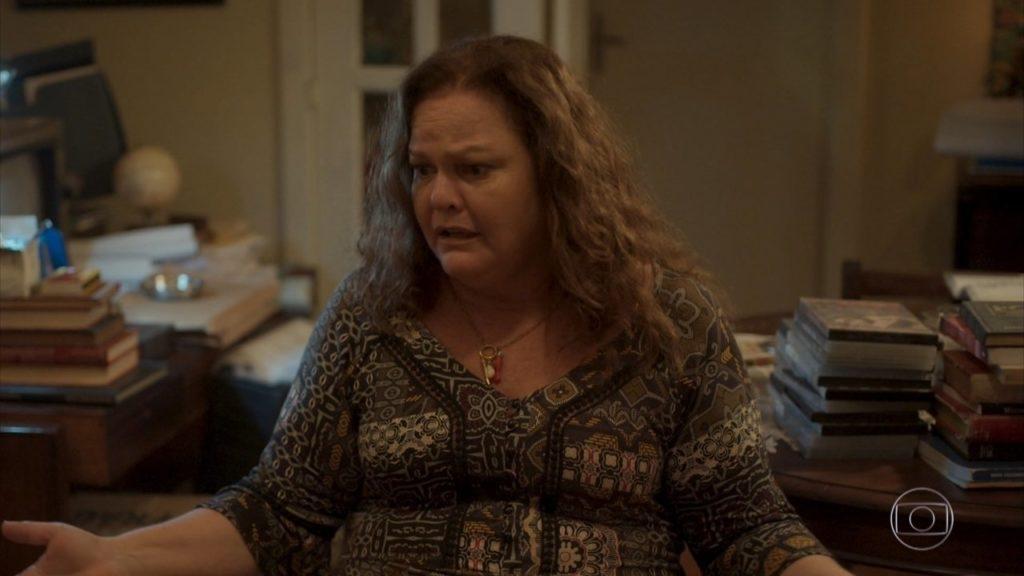Eunice em cena de Amor de Mãe elevando a audiência da Globo