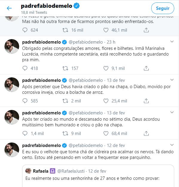 O Padre Fábio de Melo voltou ao Twitter após uma intensa confusão (Foto: Reprodução)