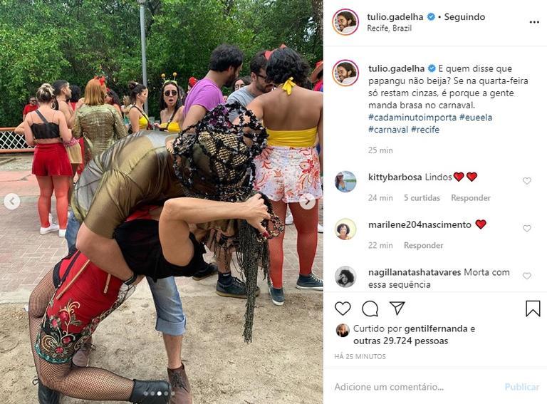 A apresentadora global está curtindo o carnaval antecipado com Túlio Gadelha (Foto: Reprodução/ Instagram)