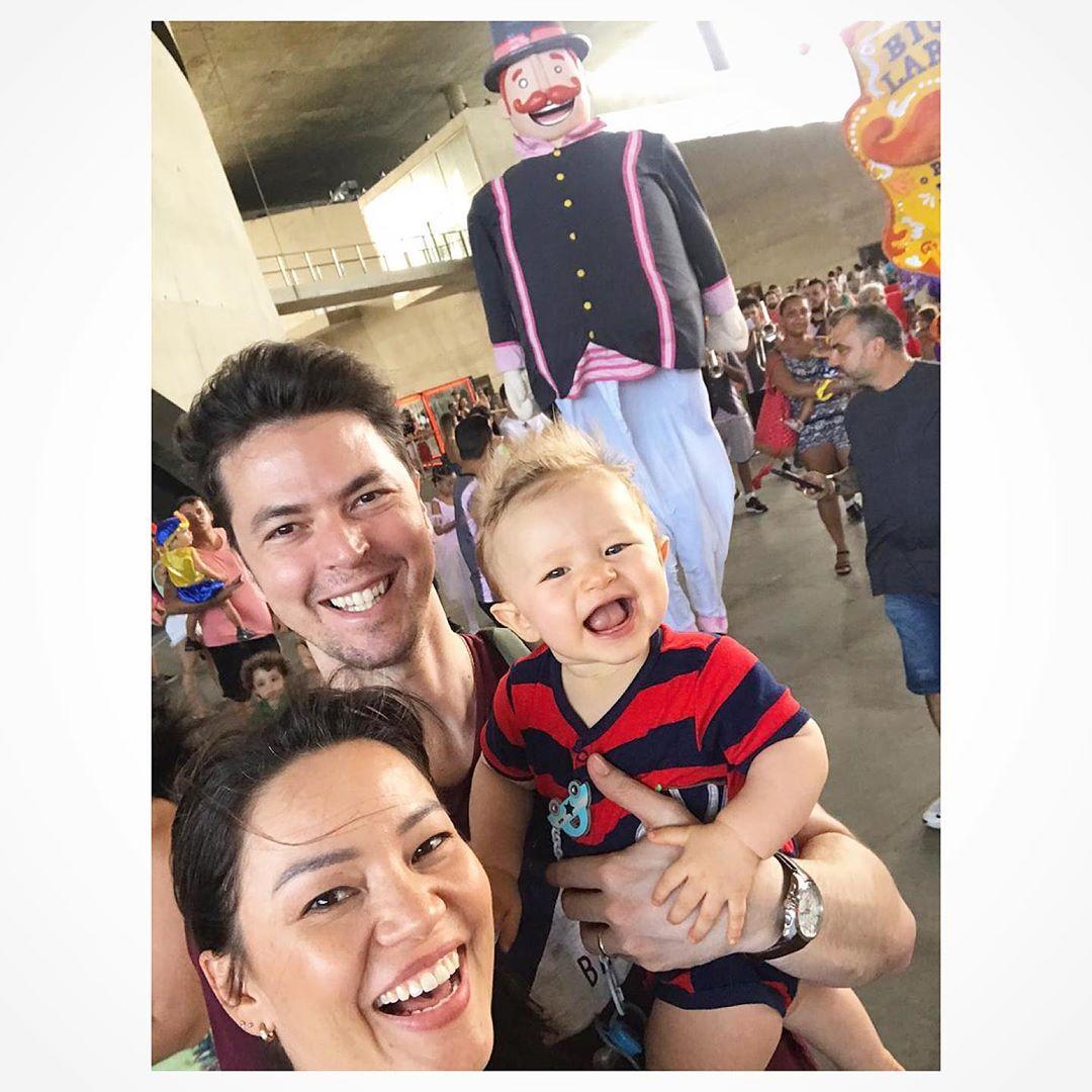 Geovanna , o marido Eduardo e o filho, Gabriel (Imagem: Instagram)
