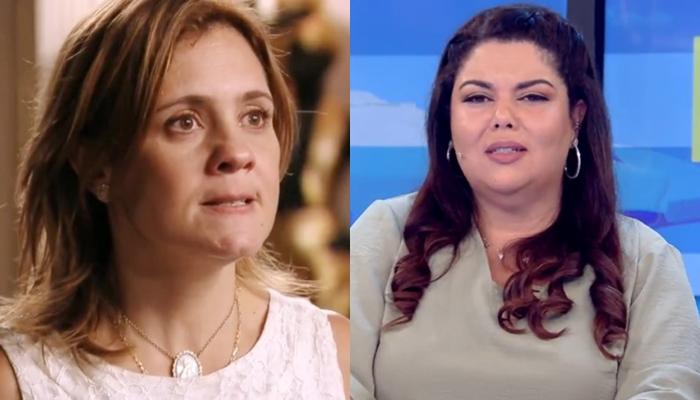 Adriana Esteves (Carminha) em Avenida Brasil e Fabiana Karla no Se Joga: lados opostos no ibope (Foto: Reprodução/Globo)