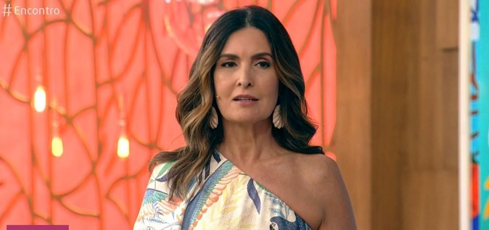 Fátima Bernardes no comando do Encontro (Foto: Reprodução/Globo)