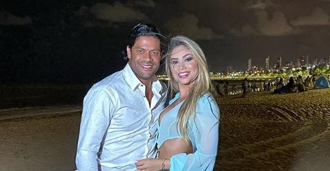 Hulk ao lado da namorada Camila Ângelo. Foto: Reprodução