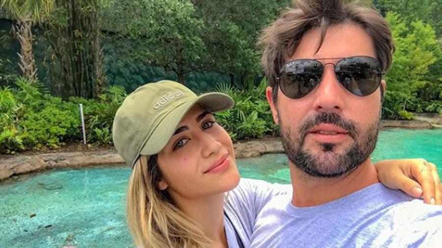 A digital influencer Jéssica Costa e o marido Sandro Pedroso (Foto: reprodução)