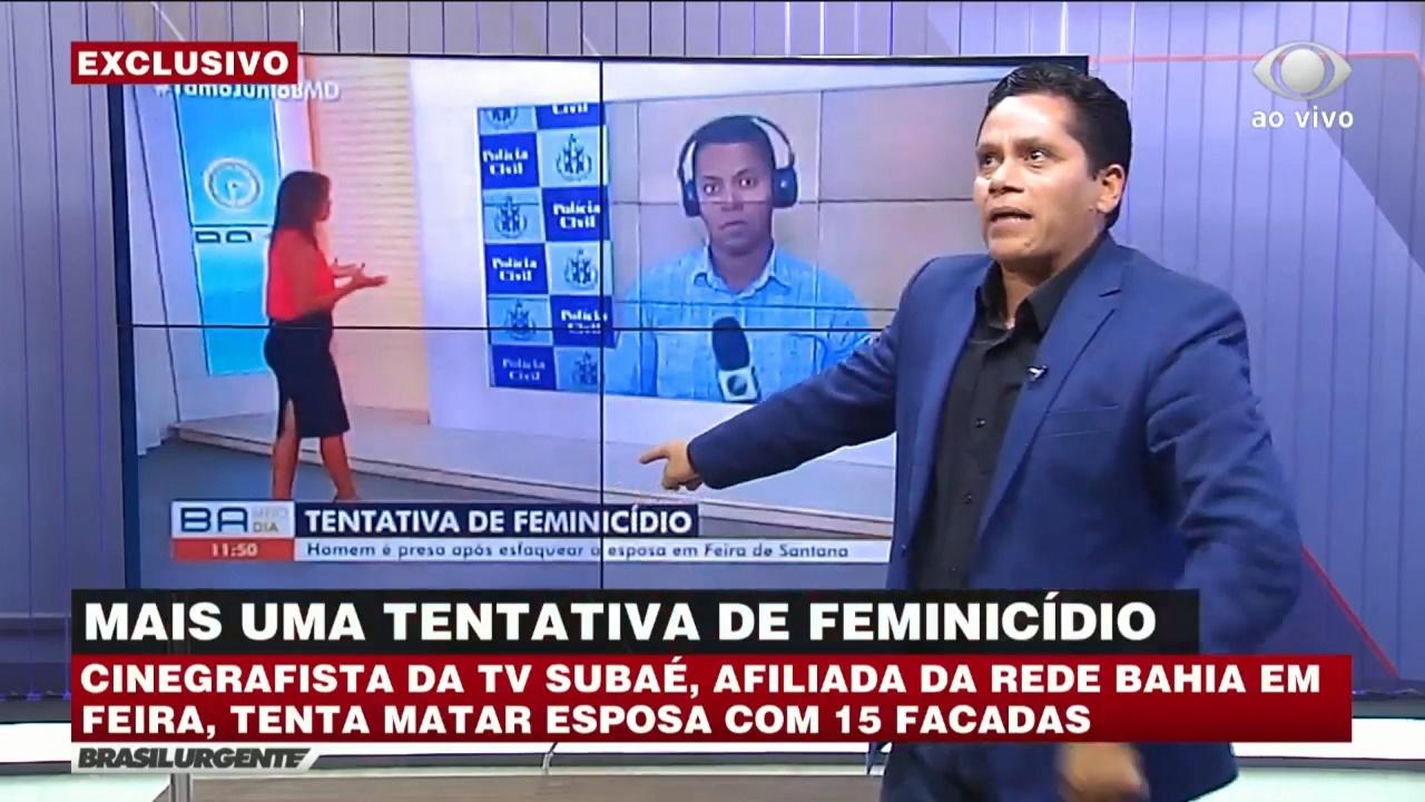 Jéssica Senra foi exposta pelo Brasil Urgente da Bahia (foto: reprodução/Band)