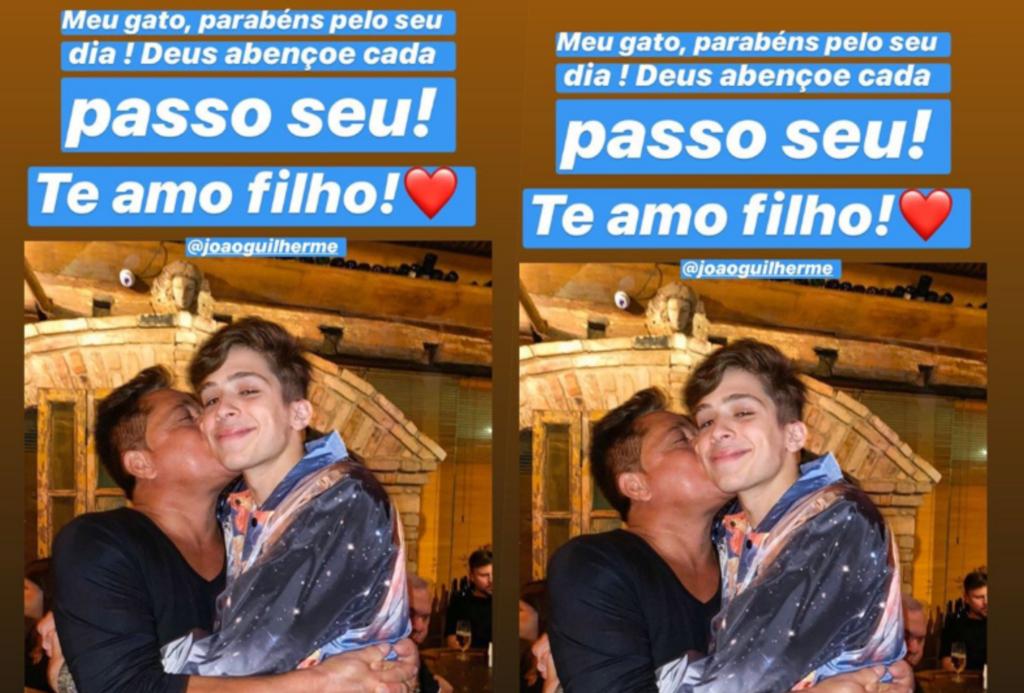 Leonardo postou declaração para o filho João Guilherme no aniversário do rapaz (Foto reprodução Instagram)