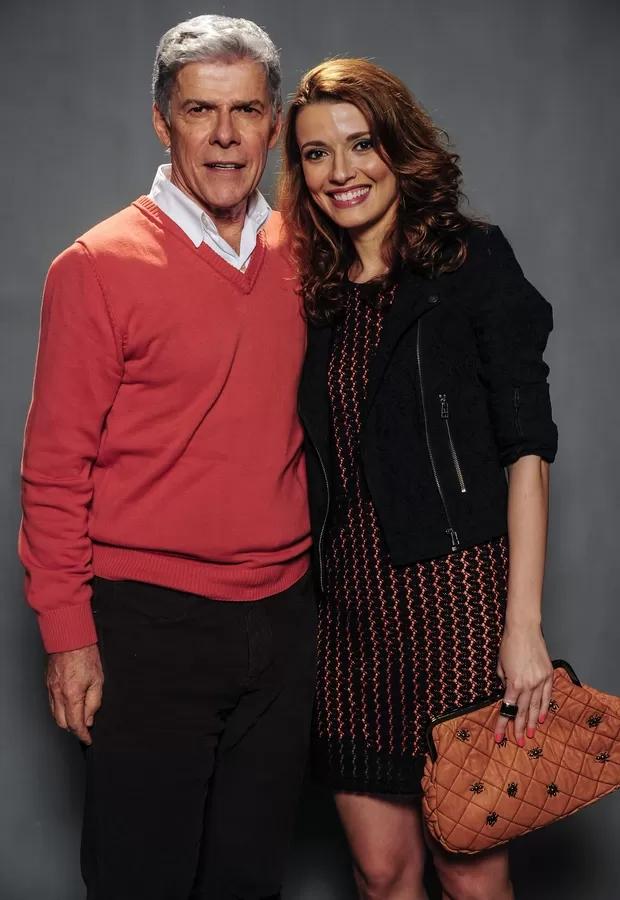 Júlia Fajardo e seu pai José Mayer (Foto: reprodução)