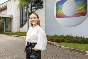 Larissa Manoela anunciou contrato com a Globo (Foto: Globo/Sergio Zalis)