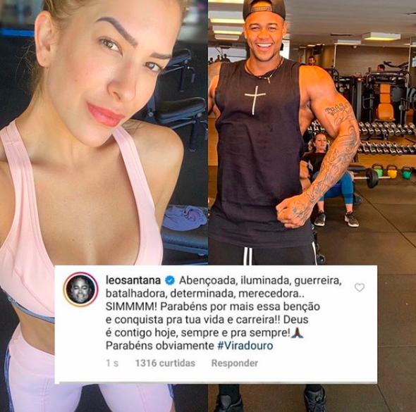 O cantor baiano fez uma declaração daquelas para sua ex-noiva após sua escola de samba ser anunciada como vencedora do Carnaval do Rio de Janeiro (Foto: Reprodução/Instagram)