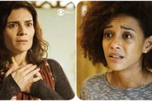 Fotomontagem do site TV Foco de Leila e Vitória da novela Amor de Mãe