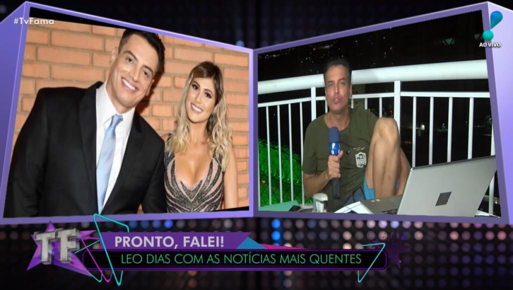 Leo Dias fala sobre sua atual relação com Lívia Andrade direto do TV Fama (Foto: Reprodução)