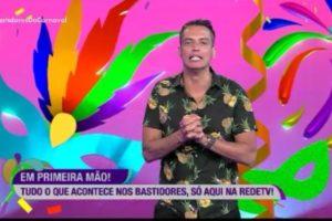 Leo Dias desapareceu dos Bastidores do Carnaval da RedeTV! (Foto: Reprodução)