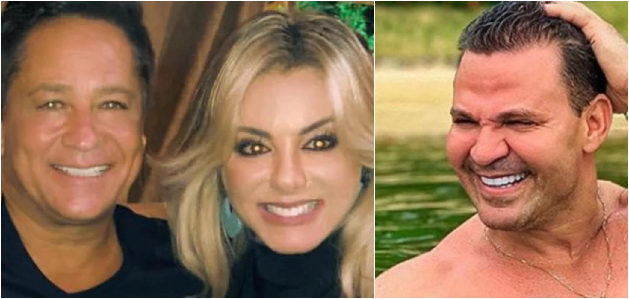 Leonardo Costa e sua esposa, Poliana Rocha, são amigos de Eduardo Costa (Reprodução)