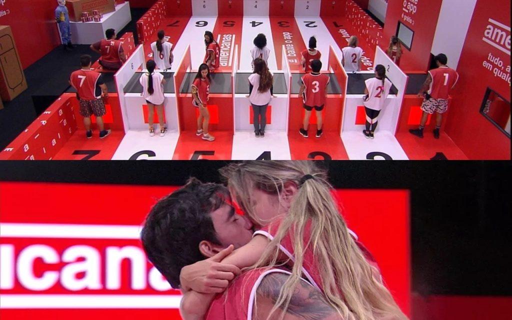 Gabi e Guilherme vencem a terceira prova do líder, patrocinada pela Americanas Foto: reprodução/Globo)