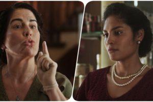 Lola e Shirley da novela Éramos Seis discutem