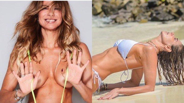 Luciana Gimenez exibe corpão em praia (Imagem: Instagram)