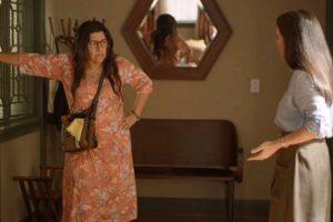 Lurdes e Thelma em cena da novela Amor de Mãe - Foto: Reprodução