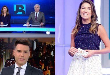 Jornal da Record, Cidade Alerta e Roda a Roda com Rebeca Abravanel foram destaques de audiência (Foto: Reprodução/Record/SBT/Montagem TV Foco)
