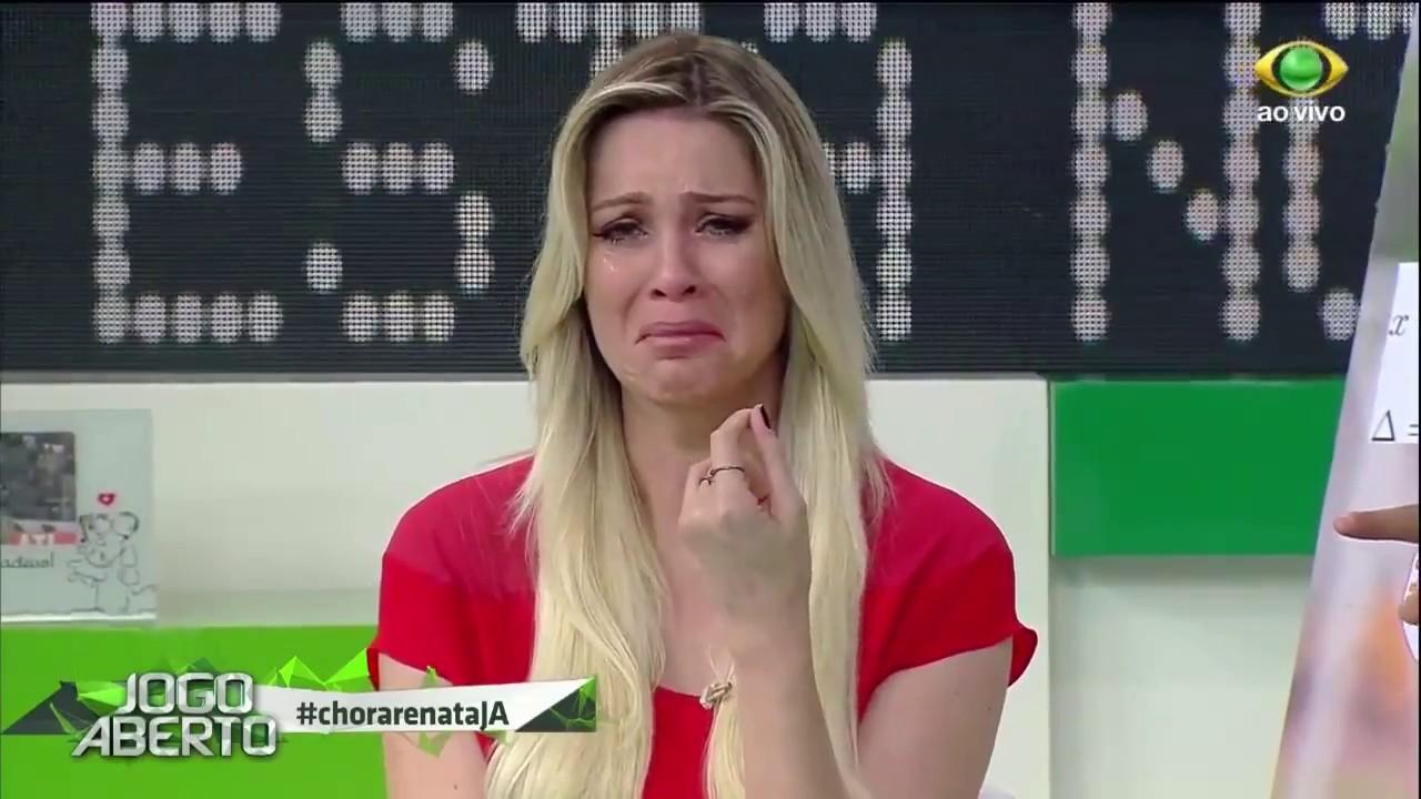 Renata Fan chora ao vivo no Jogo Aberto por conta do Internacional. Foto: Reprodução