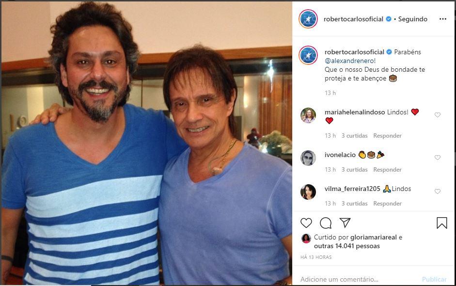 Alexandre Nero, ator da Globo, é amigo de Roberto Carlos