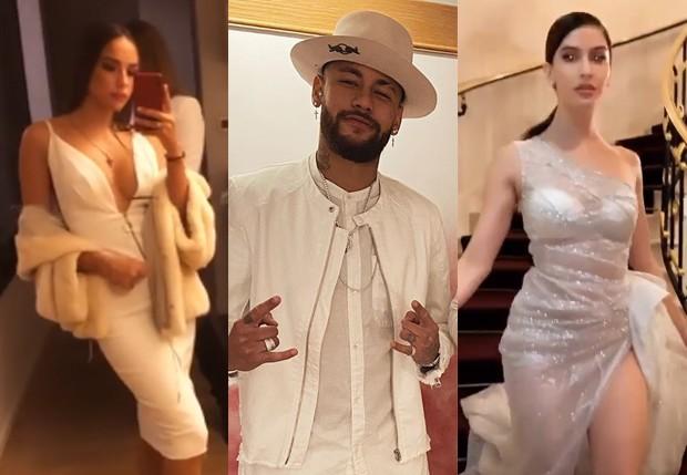 Neymar convidou Katerina Safarova e Natalía Barulích, as modelos já foram apontadas como affair do jogador (Foto: Reprodução/ Instagram)