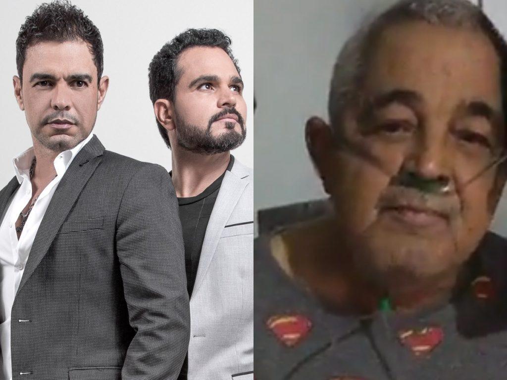 O pai do famoso cantor sertanejo Zezé Di Camargo que faz dupla com Luciano Camargo, Francisco Camargo estaria respirando com ajuda de aparelhos (Foto: Reprodução/Montagem TV Foco)