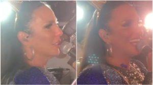 Ivete Sangalo fez um discurso emocionado enquanto estava se apresentando em um show em cima do trio elétrico (Foto: Reprodução)