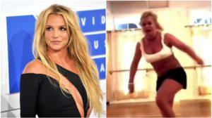 Britney Spears caiu e se machucou de forma grave (Foto: Reprodução)