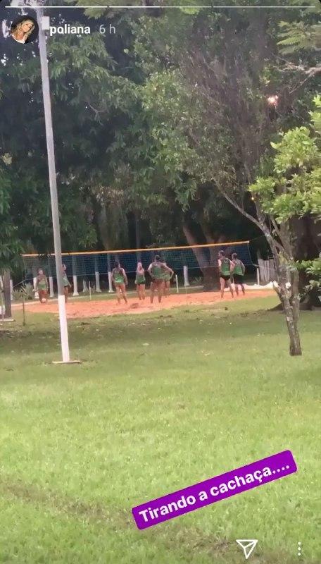 Poliana Rocha se divertiu na fazenda ao lado de Leonardo e amigos (Foto: Reprodução/ Instagram)