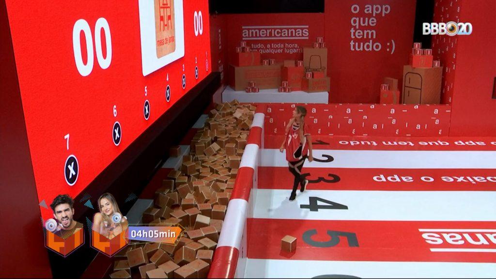 Gabi e Guilherme ganham a Prova do Líder (Foto: Reprodução)