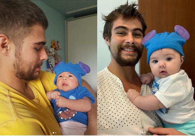 Rafael Vitti celebra quatro meses da filha e se derrtete pela herdeira nas redes sociais