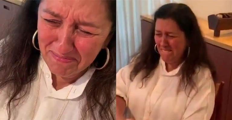 Regina Casé se emocionou com o neto indo para escola e surgiu aos prantos (Foto: Reprodução/ Instagram)